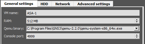 Cisco ASA Firewall in GNS3